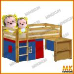 pine loft bed with pull out dest-mk-b-01