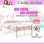 Single Girls bedroom metal wall bed-199
