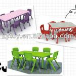 Modern Plastic Children Table and Chairs Furniture for Sale-KY175