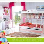 2013 popuplar kids bedroom set is made by E1 MDF board with painting-2013 JIMITONY-C06&C22