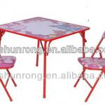 Kid furniture with 1 table and 2 chairs for school in lovely design-SR-C5008