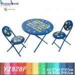 Kindergarten furniture round table and chairs-YJ828F