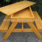 Wooden Picnic Table and Bench with Sandpit / Outdoor Table & Chairs / Kids Garden Bench-EN017