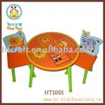 MDF and Pine children Table and chair set-HT1001