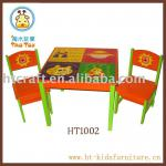 MDF and Pine child Table and chair set-HT1002