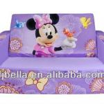 Fun Furniture Kids Flip Open Sofa Bed -- Minnie-BLA-FS037