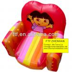 Red Cheap Kids PVC Inflatable Dora air sofa chair-FSF121101
