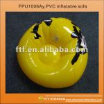 Yellow Bean type PVC Inflatable sofa-FPU1006Ay