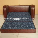 double kids leather sofa bed,baby's leather sofa bed-LG06-S093-1