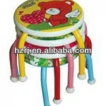 cartoon baby stool steel plastic stool kid pvc stool-KD-001