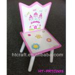 HT-PRTC001 beautiful pink wooden Princess chairs with round legs for kids indoor in 2014 NEW PRINCESS DESIGN-HT-PRTC001 beautiful pink wooden Princess chairs w