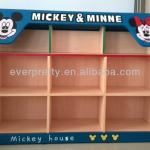 children's bookshelves,kids toy storage furniture,kindergarten furniture painting with mickey mouse-SF-01K2