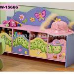 Nice Wooden children 4-doors storage cabinet-BA168108