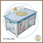 HT-Mrl005 MDF Kids Storage Toy Box with lids-HT-Mrl005