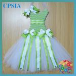 Newestl ! CUTE Tutu ribbon bow holder Soft chiffon Tutus chevron dress-