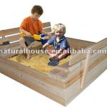 High quality Outdoor wooden sandpit-WS-001