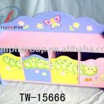 Wooden Kids Wooden storage bench-TW-15666