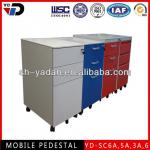3 drawer metal file cabinet with 5 wheels-YD-SC6