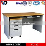 MDF office desk with mobile cabinet-YD-3C