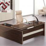 Wood Veneer UV finishing L Shape Wood Office Table-MBST-024