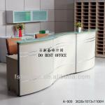 modern reception desk with glass A-009-A-009