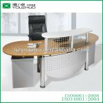 R023 metal frame round reception desk with panel table top-R023