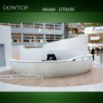 2014 Dowtop Contemporary pure black curved beauty salon reception desk-DTR195