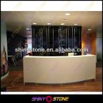 2014 New Design High-End Curved Style Acrylic Solid Surface Reception Counter-STRD-154