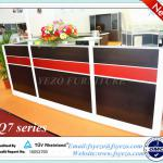 Aluminium framed modern office furniture reception desk, high quality round reception counter with 70mm thick partition-Q7-JDT2808