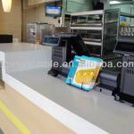 fast food restaurant acrylic solid surface reception counter/artificial stone countertop-VOV054