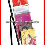 Multi-layer Metallic magazine rack stand-yj677