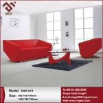 Red Leather Modern Elegant Office Sofa Designs-MSF-014