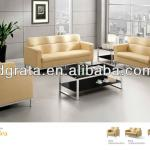 2013 office sofa chair was made of genuine leather and stainless steel legs-2013-811-1/2/3
