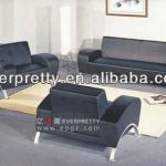 leather chesterfield sofa,black and white leather sofa,stainless steel frame sofa-FS-22