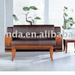 1+1+3Modern Office Leather Sofa with wooden legsA415-A305,A415