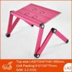 Adjustable Aluminum Laptop Desk, Metal Computer Table-LA2