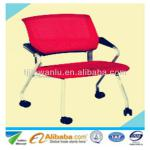 Offer new style folding office furniture stackable conference chair-WLC-009