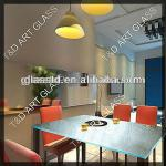 Eco-friendly custom kiln formed conference glass table top-TDG-T-25