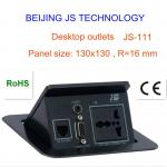 Conference table socket with power data outlets for easy communication-JS-111