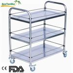 With basin stand by CE/FDA approved Medical instrument trolley-STS-B043