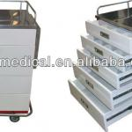 Hospital stainless steel medical cart used medication trolley cart-PMT-759
