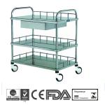 B6 Stainless Steel Medical Hospital Trolleys with CE-B6