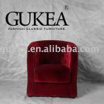 Red color velvet hotel furniture sofa chair(GK507)-GK507