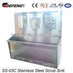 Good price ! SS-03C free standing steel sink for 3 person-SS-03C free standing steel sink