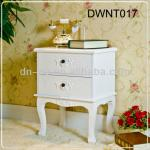 DWNT017 White square wood bed side table-DWNT017