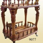 Wooden Handcrafted Service Trolley-9077