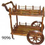 Wooden Handcrafted Service Trolley-9096