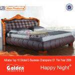2817# Happy night home design imports furniture luxury leather bed-2817#