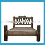 ANTIQUEWOODEN HOME HOTEL DOUBLE BED-DJ-P025