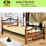 wood and mental bunk bed/ bedroom furniture/GZ furniture/bedding set-